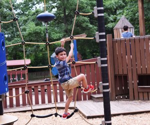 Climb the ropes at KidStreet Playground. Photo by the author