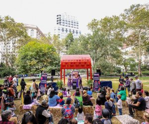 Free family-friendly festival Kids Fest: Stages in the Square returns this weekend to Madison Square Park.  Photo courtesy of Madison Square Park