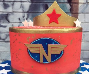 Sugar Monster Sweets specializes in custom-cake designs, such as this Wonder Woman cake.