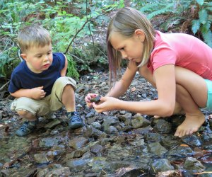 The outdoors are a natural playground for curious kids.