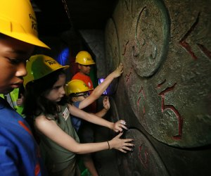 Kids follow an underground quest at the new Ripley's Relic experience.