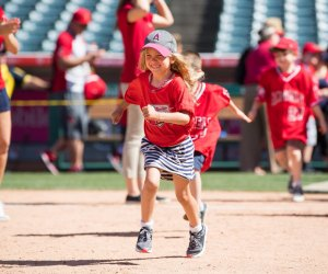 Kids Run the Bases. Photo courtesy of Los Angeles Angels