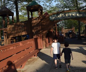 Stroll into KidStreet for some cool play on hot day.