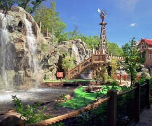 """Water features are more fun than """"hazards"""" at Kimball Farm. Photo courtesy of Kimball Farm Mini Golf"""