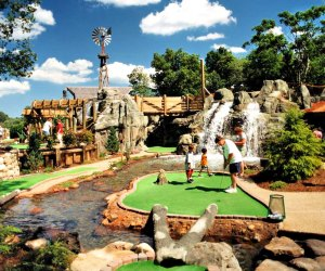 "Water features are more fun than ""hazards"" at Kimball Farm. Photo courtesy of Kimball Farm Mini Golf"