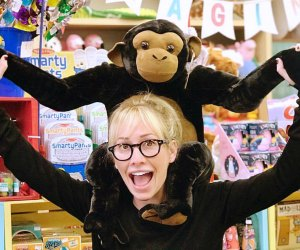 Monkeying around at  Kip's Toyland
