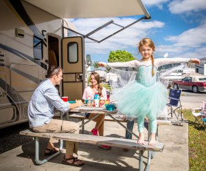 Your little princess will delight in a visit to Orlando/Kissimmee KOA. Photo courtesy of KOA Campgrounds