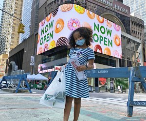 Krispy Kreme brings its trademark glazed doughnuts to the crossroads of the world.