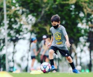Future all-stars get their start in sports classes. Photo courtesy LA Galaxy