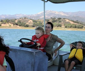 SoCal Campgrounds with Extra Entertainment For Kids: Take a boat around Lake Casitas