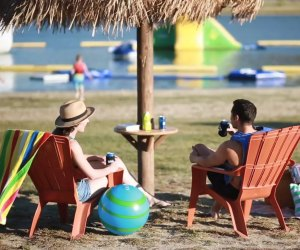 Swim and play at the water park at this campground. Photo courtesy of Lake Hemet Campground