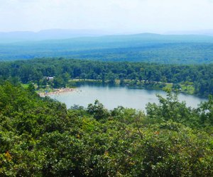 View from above Lake Marcia in High Point State Park