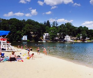Lake Hopatcong State Park offers a refreshing lake for swimming, grills, a concession stand, and playgrounds. Photo courtesy of Morris County, N.J.