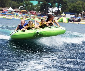 Lakeview Marina offers motorboat-towed tubing adventures on Lake Hopatcong.