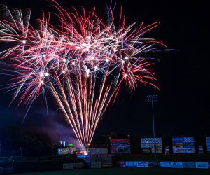 fireworks light up the sky in NJ The Jersey Shore BlueClaws