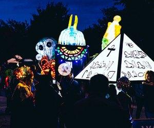 Baltimore's Halloween Lantern Parade & Festival lights up the night. Photo courtesy of creativealliance.org