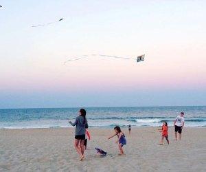 Kids on a Jersey Shore beach