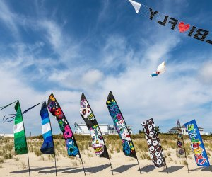 LBI Fly brings the brilliant and colorful art kites, fun flying giant inflatable kites, and the amazing show of sport kiting to beautiful Long Beach Island. Photo courtesy of the festival