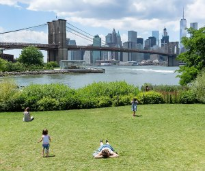 This massive green space offers tons of family activities—and unbeatable city views. Photo courtesy of Brooklyn Bridge Park