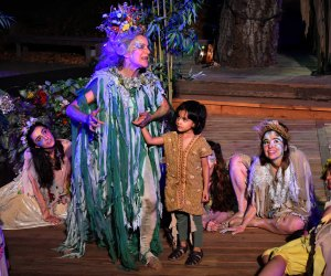 Titania takes the stage in A Midsummer Night's Dream. Photo by Ian Flanders