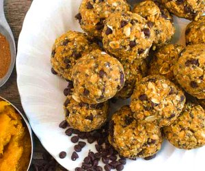 Pumpkin Oat Balls are healthy and so easy to make. Photo courtesy of Bless This Mess Please