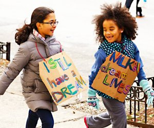 Celebrate Martin Luther King Day at Manhattan Country School's annual march. Photo courtesy of the school