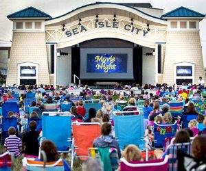 Enjoy Movies Under the Stars in Sea Isle City. Photo courtesy of Sea Isle City
