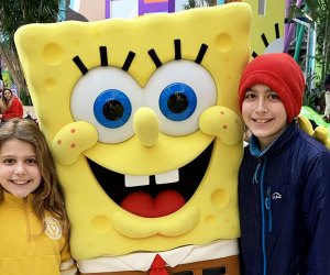 My kids were thrilled to meet SpongeBob Square Pants during our visit Nickelodeon Universe.