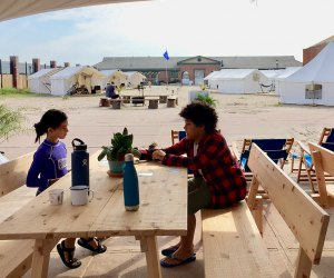 Camp Rockaway fuses beach camping heritage with modern amenities.