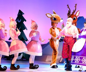 Rudolph the Red-Nosed Reindeer: The Musical. Photo courtesy of Character Arts