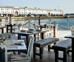Outdoor dining at Legal Harborside. Photo by Heath Robbins