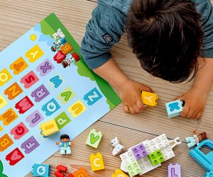Introduce toddlers to their ABCs with these Lego Duplo alphabet bricks .
