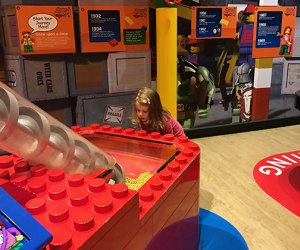 child plays at legoland