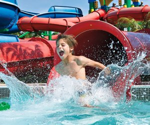 Slide it, the water's fine. Photo courtesy of Legoland Water Park