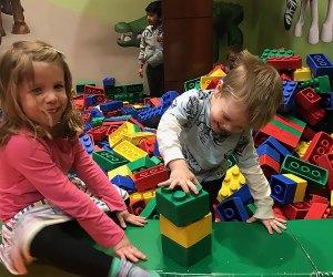 kids building giant legos
