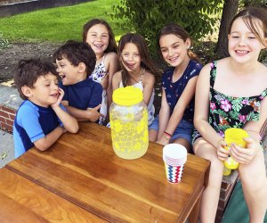 Make a small business by opening a lemonade stand.