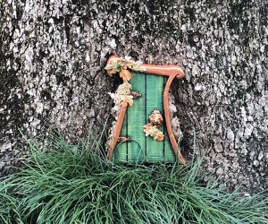 The tiny Fairy Doors at Leu Gardens will enchant all ages through September 5. Photo by Charlotte B