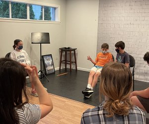 Kids can challenge themselves with improv classes at the Actors Garage.