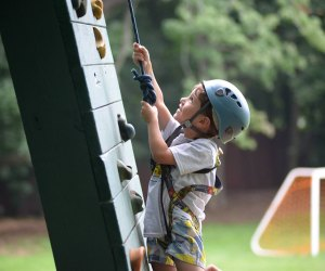 Challenge  the wall at North Shore Day Camp in Glen Cove.