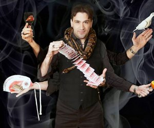 This mind-blowing magic show is at the Bellmore Theater. Photo courtesy of The Magic of Alexo