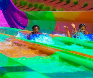Thrill to a final run or two down the water slide at Splish Splash in Calverton. Photo courtesy of the park