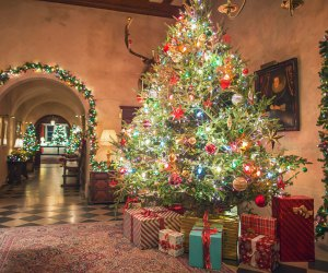 Experience the amazing holiday decorations at Coe Hall. Photo courtesy of Planting Fields Arboretum