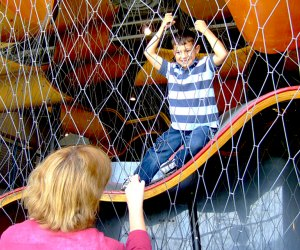 The climbing structure is an adult-free zone at the Long Island Children's Museum. Photo courtesy of LICM