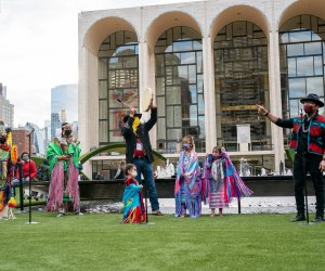 The Redhawk Native American Arts Council has already put on a kid-friendly performance at Lincoln Center's Restart Stages. Photo by Richard Termine