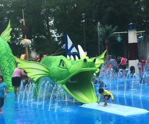 Splash around with a friendly sea serpent at the new sprayground in Linden, NJ.