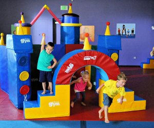 Friday night can be fun for kids and grownups! Photo courtesy of Little Gym Boston