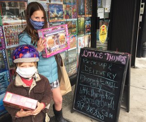Phone in your order, mask up, and head to Park Slope's Little Things for curbside pickup of your goodies. Photo by Ros Muggeridge