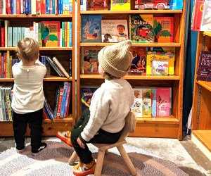 Browse the board books at Little City Books in Hoboken.