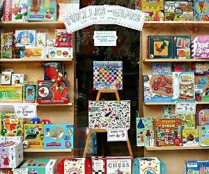 Hoboken's Little City Books offers plenty of page turners, plus toys and puzzles available for curbside pickup or delivery. Photo courtesy of the shop