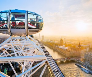 Get a bird's eye view at the London Eye. Photo courtesy of Visit London
